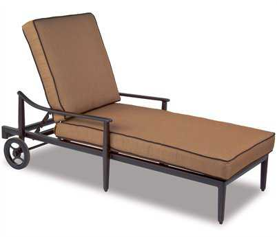 Cast Classics Sutton Cast Aluminum Cushion Chaise Lounge