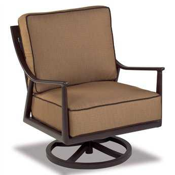 Cast Classics Sutton Cast Aluminum Cushion Club Swivel Rocker CC280843C
