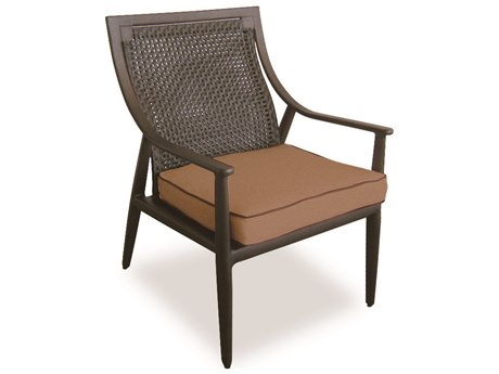 Cast Classics Sutton Cast Aluminum Cushion Dining Arm Chair