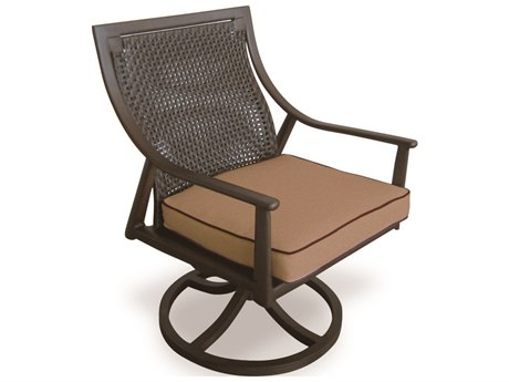 Cast Classics Sutton Cast Aluminum Cushion Dining Swivel Rocker