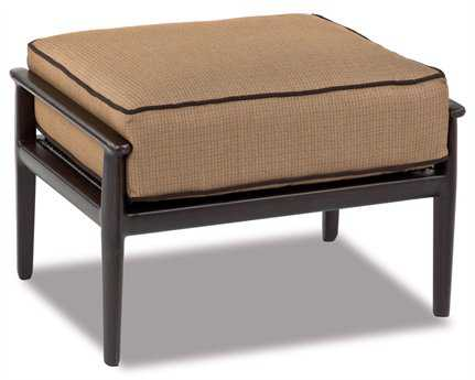 Cast Classics Sutton Cast Aluminum Cushion Ottoman