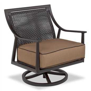 Cast Classics Sutton Cast Aluminum Cushion Club Swivel Rocker