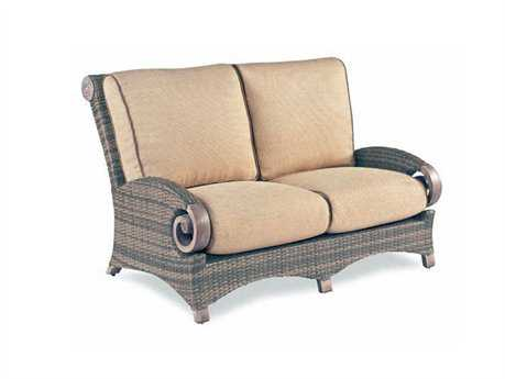 Cast Classics Grand Manor Wicker Cushion Loveseat
