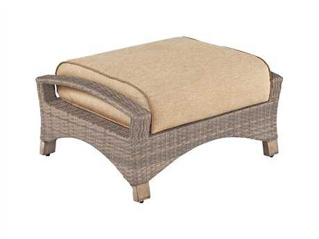 Cast Classics Grand Manor Wicker Cushion Ottoman