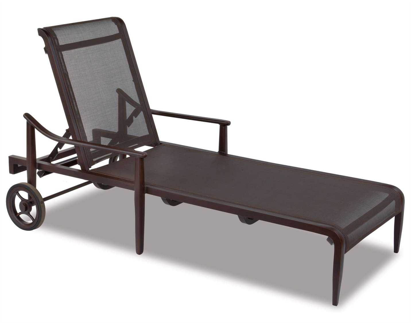 Cast classics sutton sling cast aluminum chaise lounge for Cast aluminum chaise lounge