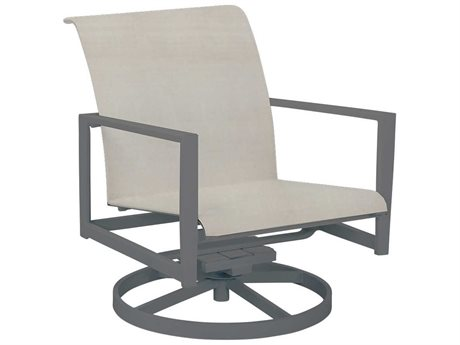 Cast Classics Vector Sling Cast Aluminum Swivel Rocker Lounge Chair