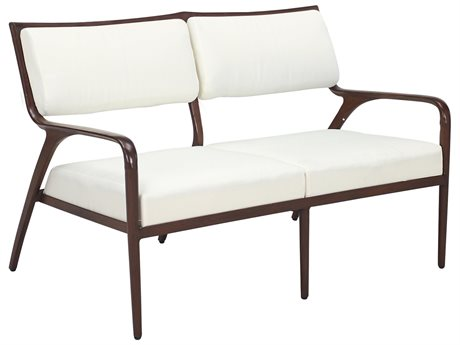 Cast Classics Presidio Cast Aluminum Loveseat with Cushions