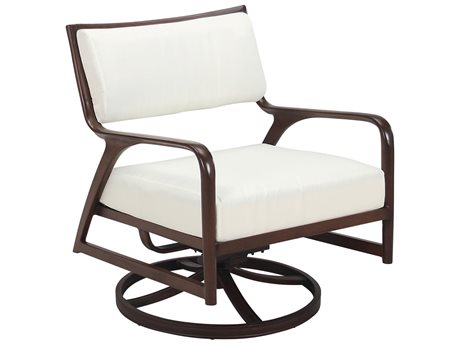 Cast Classics Presidio Cast Aluminum Cushion Swivel Rocker Lounge Chair
