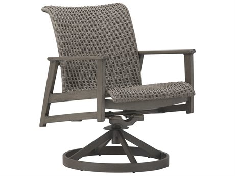 Cast Classics Fortuna Woven Wicker Swivel Rocker Dining Chair PatioLiving