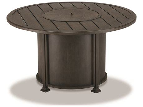 Cast Classics Firepits Cast Aluminum 48 Round LP Propane with Firestones PatioLiving