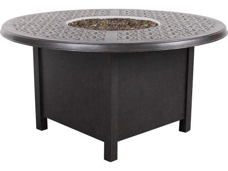 Cast Classics Opus Cast Aluminum 79''W x59D Super Oval Fire Pit with Burner Lid PatioLiving