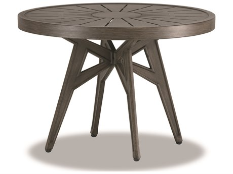Cast Classics Solaire Cast Aluminum 29''Wide Round End Height Table PatioLiving
