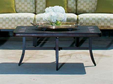 Cast Classics Greek Cast Aluminum 41 x 29 Rectangular Metal Coffee Table