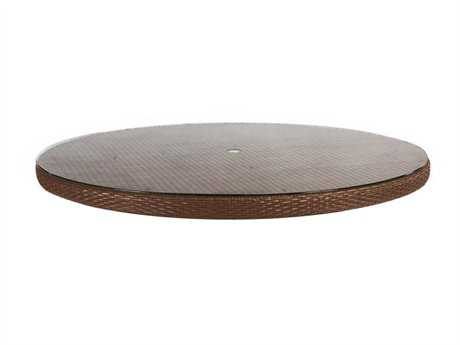 Cast Classics Dorsai Wicker 60 Round Solid Table Top with Umbrella Hole