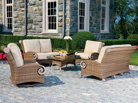 Cast Classics Grand Manor Wicker Lounge Cushion Set