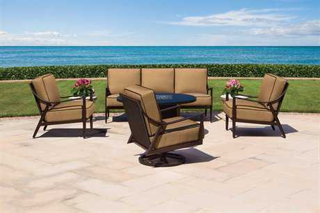 Cast Classics Sutton Cast Aluminum Lounge Cushion Set