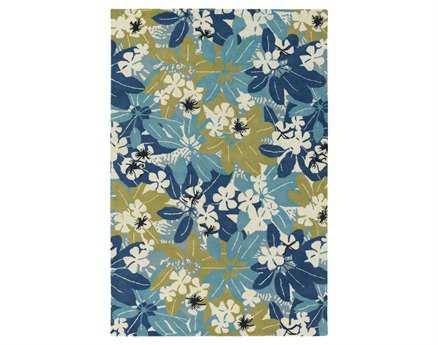 Chandra Alfred Shaheen Rectangular Blue Area Rug