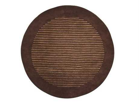 Chandra Antara Round Brown Area Rug