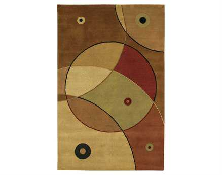 Chandra Antara Rectangular Brown Area Rug