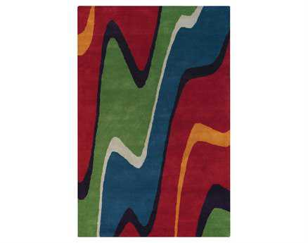 Chandra Bense Rectangular Green Area Rug