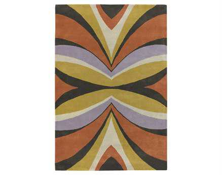 Chandra Bense Rectangular Orange Area Rug