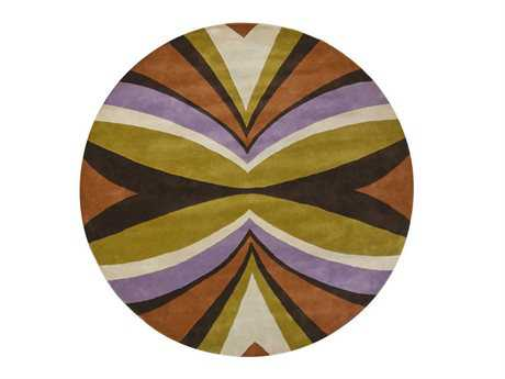 Chandra Bense Round Yellow Area Rug
