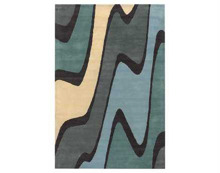 Chandra Bense Rectangular Blue Area Rug