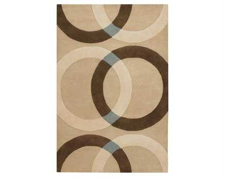 Chandra Bense Rectangular Beige Area Rug