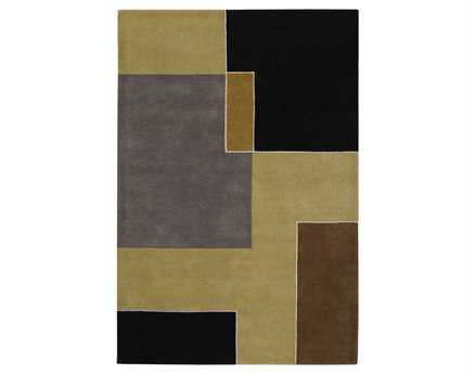 Chandra Bense Rectangular Brown Area Rug