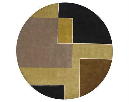 Chandra Bense Round Brown Area Rug