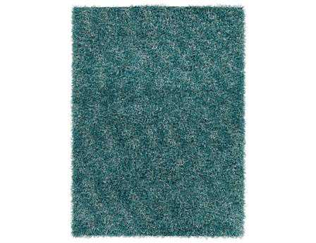 Chandra Blossom Rectangular Teal Area Rug