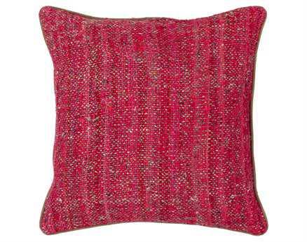 Chandra  Red Handmade Pillow