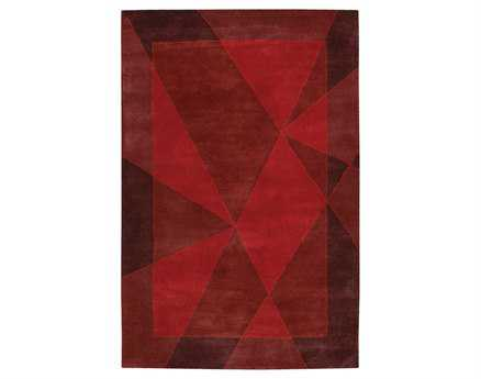 Chandra Daisa Rectangular Red Area Rug
