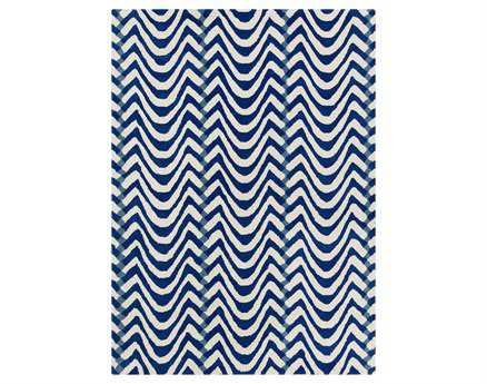 Chandra Davin Rectangular Blue Area Rug