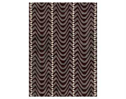 Chandra Davin Rectangular Brown Area Rug