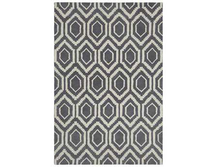 Chandra Davin Rectangular Gray Area Rug