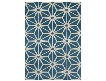 Chandra Davin Rectangular Green Area Rug