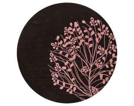 Chandra Dharma Round Red Area Rug