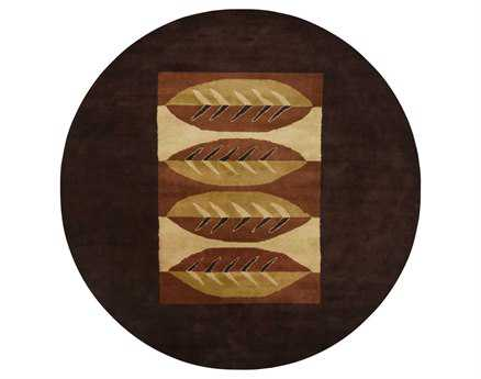 Chandra Dream Round Brown Area Rug