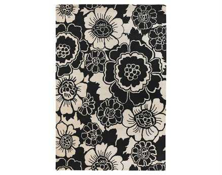 Chandra Faro Rectangular Black Area Rug