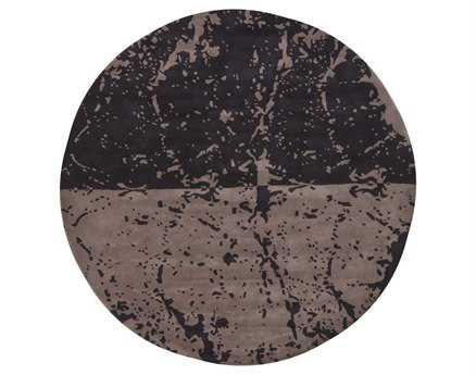 Chandra Fenja Round Black Area Rug