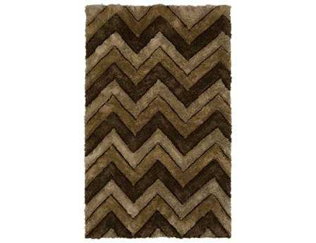 Chandra Filix Rectangular Brown Area Rug