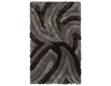Chandra Filix Rectangular Gray Area Rug