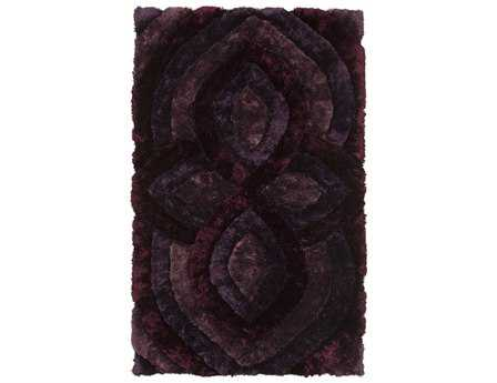 Chandra Filix Rectangular Purple Area Rug