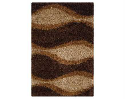 Chandra Fola Rectangular Brown Area Rug