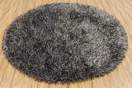 Chandra Iris Round Black Area Rug