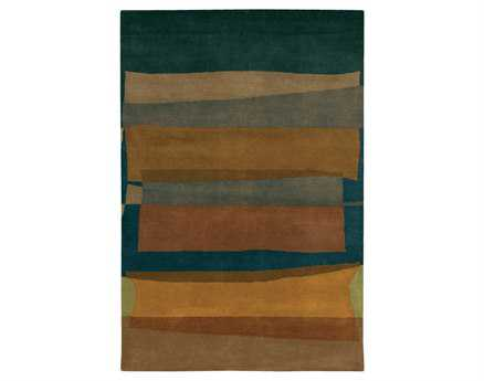 Chandra Kathryn Rectangular Brown Area Rug