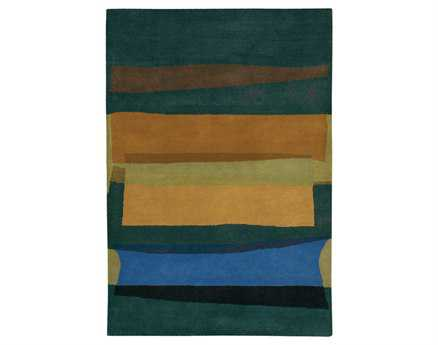 Chandra Kathryn Rectangular Blue Area Rug
