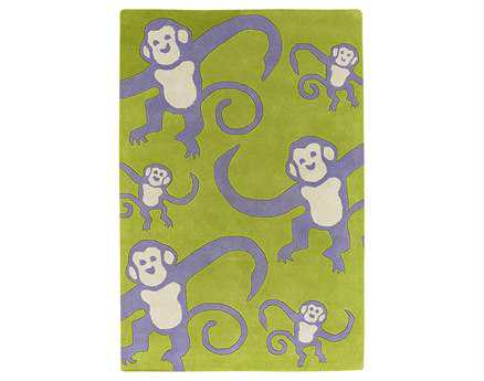 Chandra Kids Rectangular Yellow Area Rug