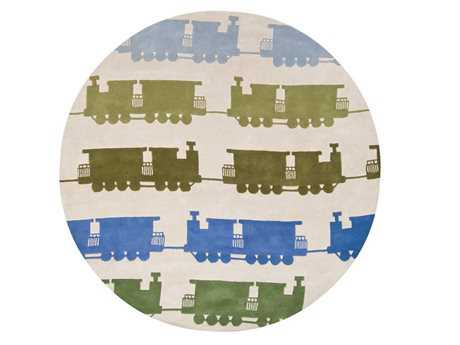 Chandra Kids Round Gray Area Rug